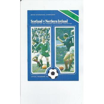 1975 Scotland v Northern Ireland Football Programme