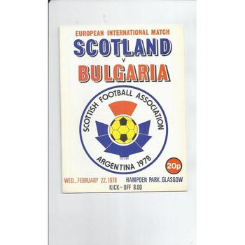 1978 Scotland v Bulgaria Football Programme