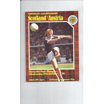 Scotland v Austria Football Programme 1979