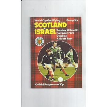 1981 Scotland v Israel Football Programme