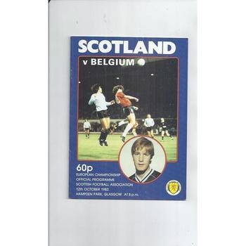 Scotland v Belgium Football Programme 1983