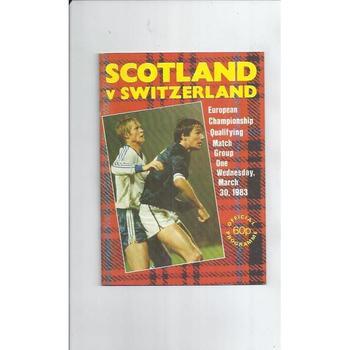 1983 Scotland v Switzerland Football Programme