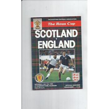 Scotland v England Football Programme 1985