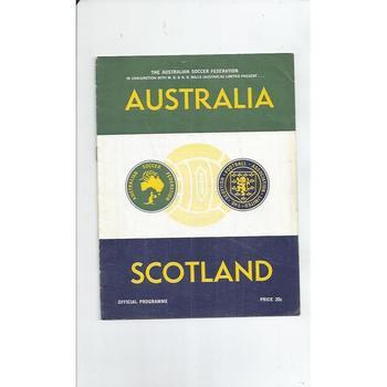 Australia v Scotland Football Programme 1967