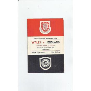 1963 Wales v England Football Programme at Cardiff