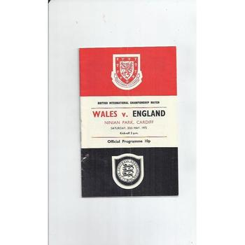 Wales v England Football Programme 1972 @ Cardiff