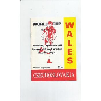 Wales v Czechoslovakia Football Programme 1977 @ Wrexham