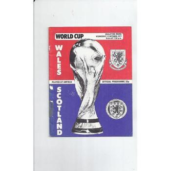 1977 Wales v Scotland Football Programme at Liverpool