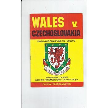 Wales v Czechoslovakia Football Programme 1980 @ Cardiff