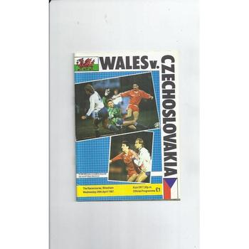 Wales v Czechoslovakia Football Programme 1987 @ Wrexham