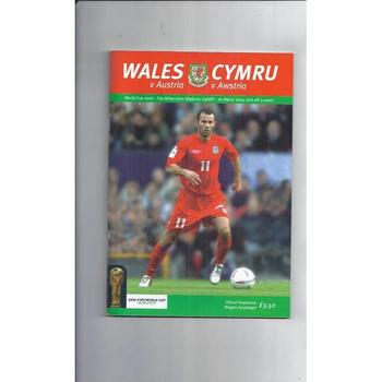2005 Wales v Austria Football Programme
