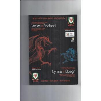2011 Wales v England Football Programme
