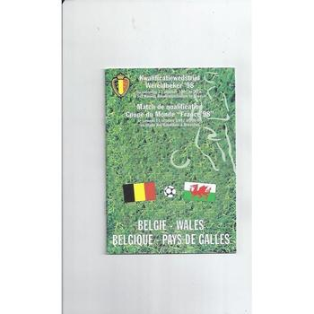 1997 Belgium v Wales Football Programme