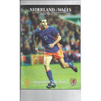1996 Holland v Wales Football Programme