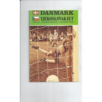 Denmark v Czechoslovakia Football Programme 1973