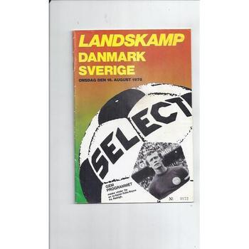 Denmark v Sweden Football Programme 1978
