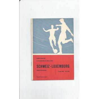 Switzerland v Luxemburg Football Programme 1960