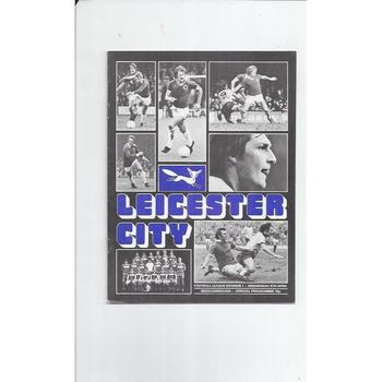 Leicester City Home Football Programmes