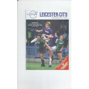 1987/88 Leicester City v Barnsley Football Programme