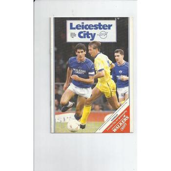 1988/89 Leicester City v Barnsley Football Programme