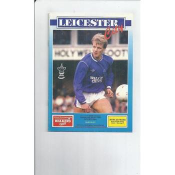 1989/90 Leicester City v Barnsley FA Cup Football Programme