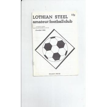 Lothian Steel v East whitburn Amateur Cup Football Programme 1981/82