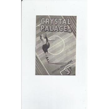 1947/48 Crystal Palace v Port Vale FA Cup Football Programme