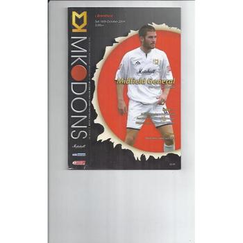 MK Dons Home Football Programmes