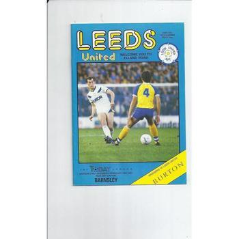 1986/87 Leeds United v Barnsley Football Programme