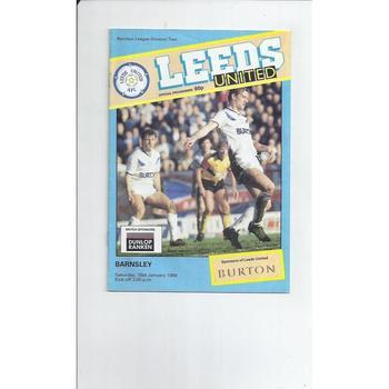 1987/88 Leeds United v Barnsley Football Programme