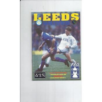 1990/91 Leeds United v Barnsley FA Cup Football Programme