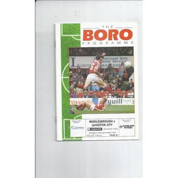 Middlesbrough Home Football Programmes