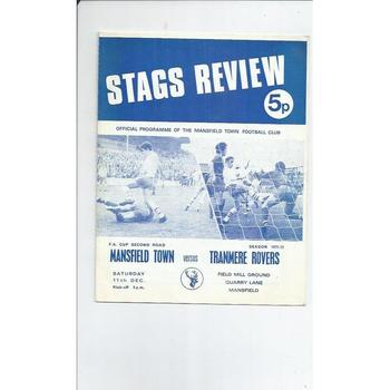 Mansfield Town Home Football Programmes