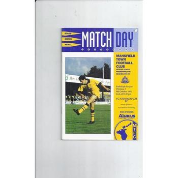 Scarborough Away Football Programmes