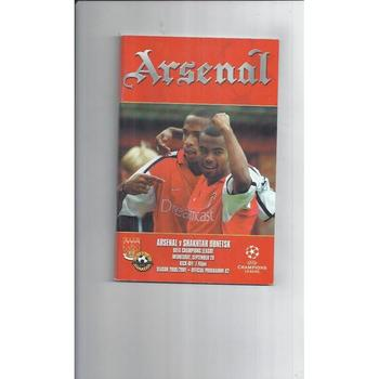 Arsenal v Donetsk Champions League Football Programme 200/01