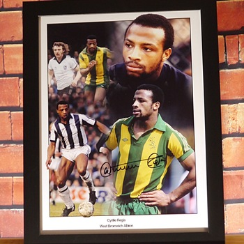 Cyrille Regis Signed West Bromwich Albion Montage
