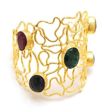 Five Stones Wire Cuff