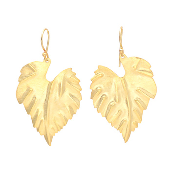Gold Leaf Hammered Earrings