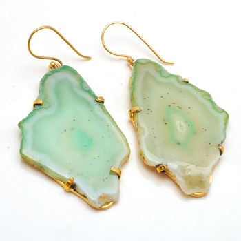 Dyed Agate Earrings