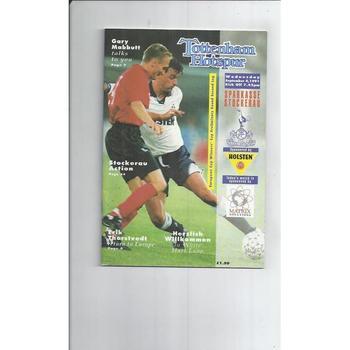 Tottenham Hotspur v Sparkasse European Cup Winners Cup Football Programme 1991/92