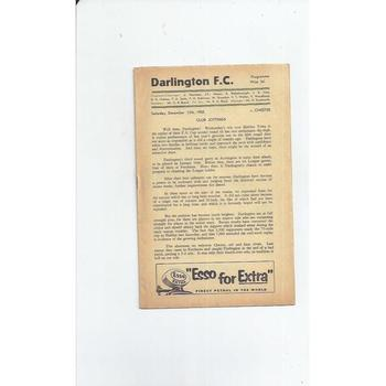 1958/59 Darlington v Chester Football Programme