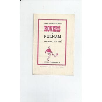 1955/56 Doncaster Rovers v Fulham Football Programme