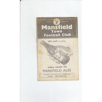 1957/58 Mansfield Town v Rochdale Football Programme
