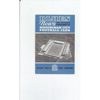Birmingham City v Blackburn Rovers 1962/63