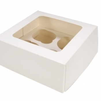 Cup Cake box – Holds 4 cup cake