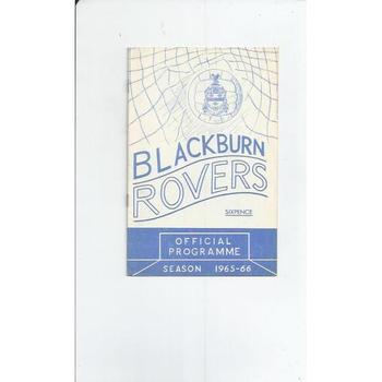 1965/66 Blackburn Rovers v Fulham Football Programme