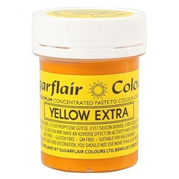 Sugarflair Extra Strong paste Colour – YELLOW Extra 42g