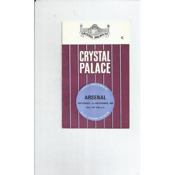 Crystal Palace v Arsenal 1969/70