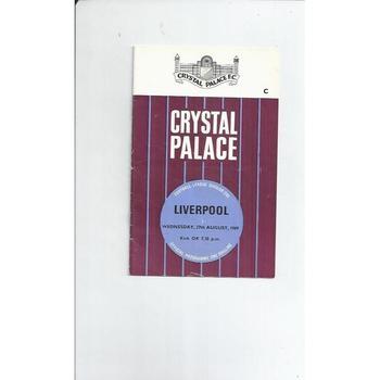 Crystal Palace v Liverpool 1969/70