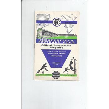 1965/66 Chesterfield v Torquay United Football Programme